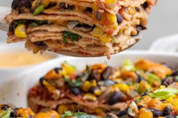 Vegan Enchilada Casserole with Homemade Sauce (oil & gluten-free)