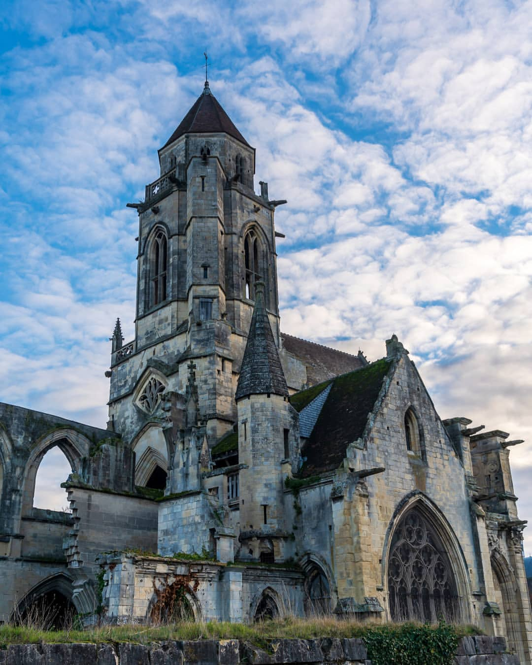 A Famous Spot In France, Abandoned Church Of Saint-Étienne