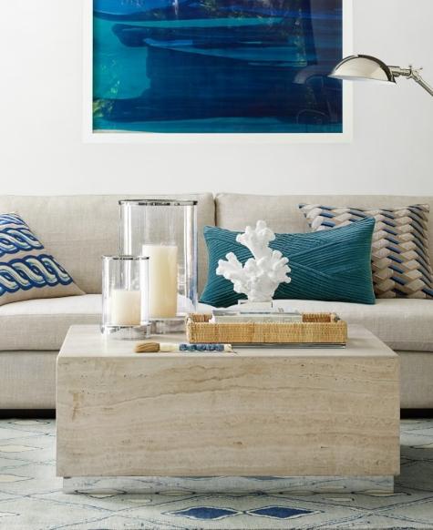 Williams Sonoma Coastal Modern Living Room
