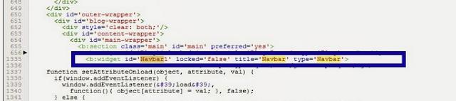 3 Cara Menghilangkan Navbar Pada Blogger di widget 2