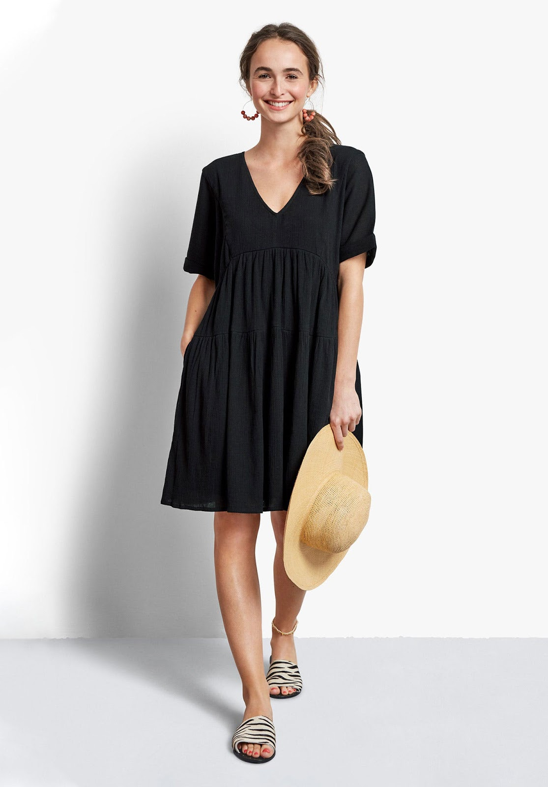 hush kyra v neck summer dress