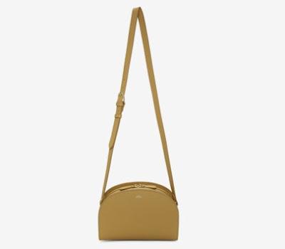 A.P.C. Tan Half-Moon Bag