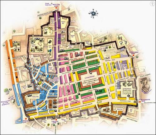 Plan du Grand Bazar d'Istanbul
