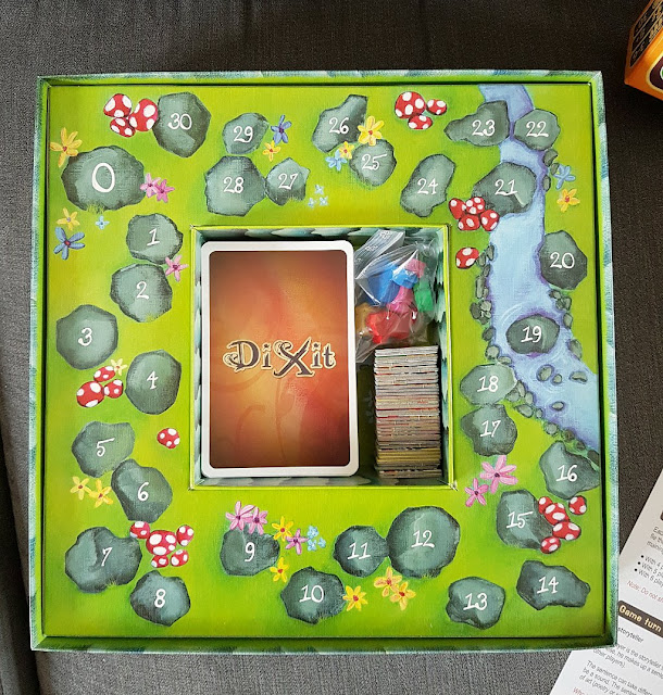Dixit story telling game, family board game, card game for kids
