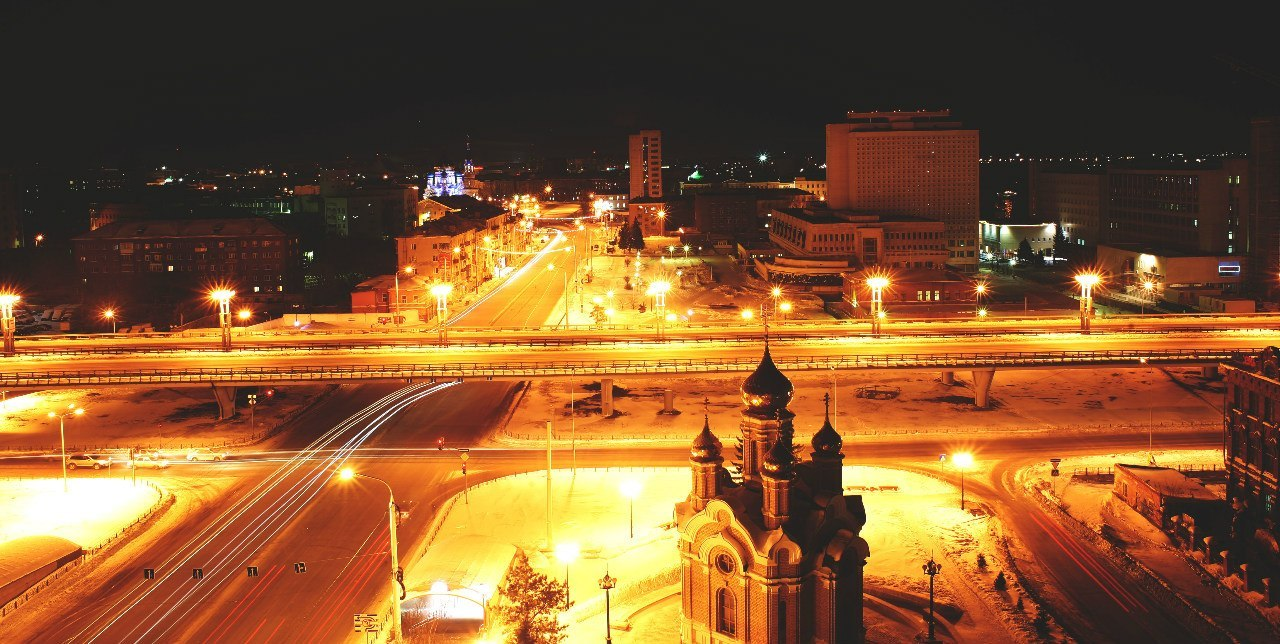 ночной город омск картинки как белых людей
