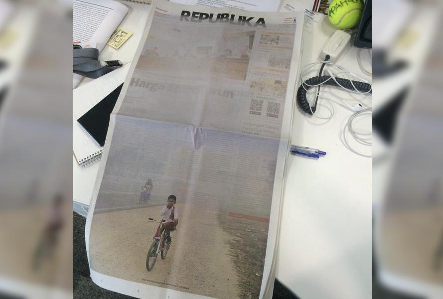 Koran Republika: Saat Tertutup Asap Semua Berita Sulit Terbaca