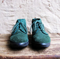 forest green lace up suede shoes
