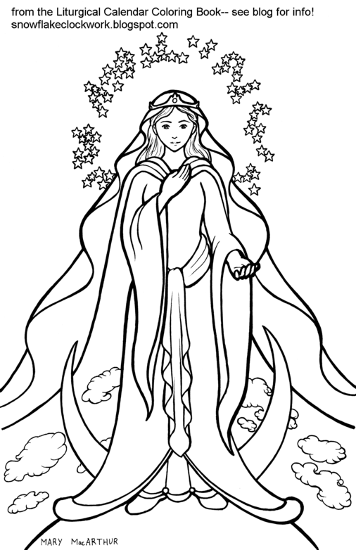 St Mary Coloring Pages | Coloring Pages