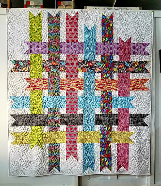 Ribbon Box Quilt made by Diane Minkley Quilts, The Free Patterns by Cloud9 Fabrics