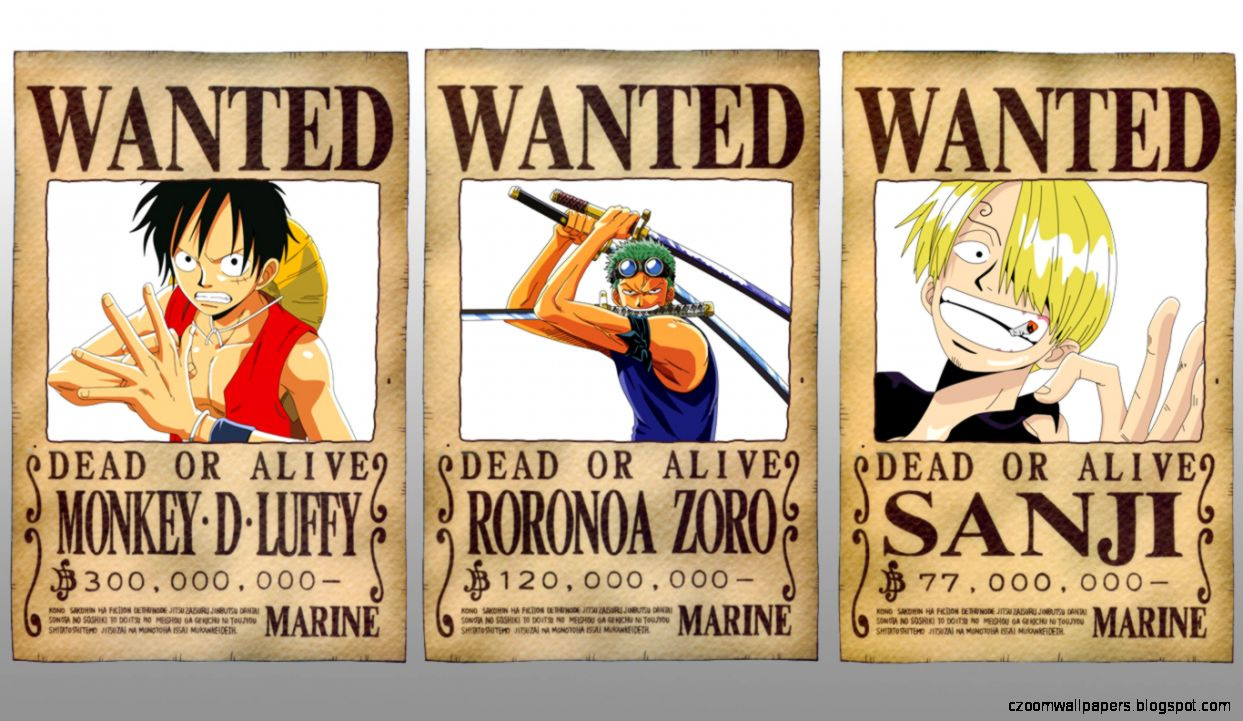 Give your home a bold look this year! One Piece Wanted Background Hd   Zoom Wallpapers