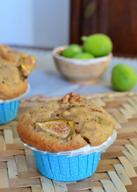 Muffins aux figues et aux noix