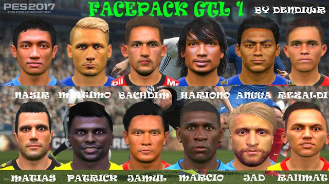 Facepack Go-Jek Traveloka Liga1 PES 2017