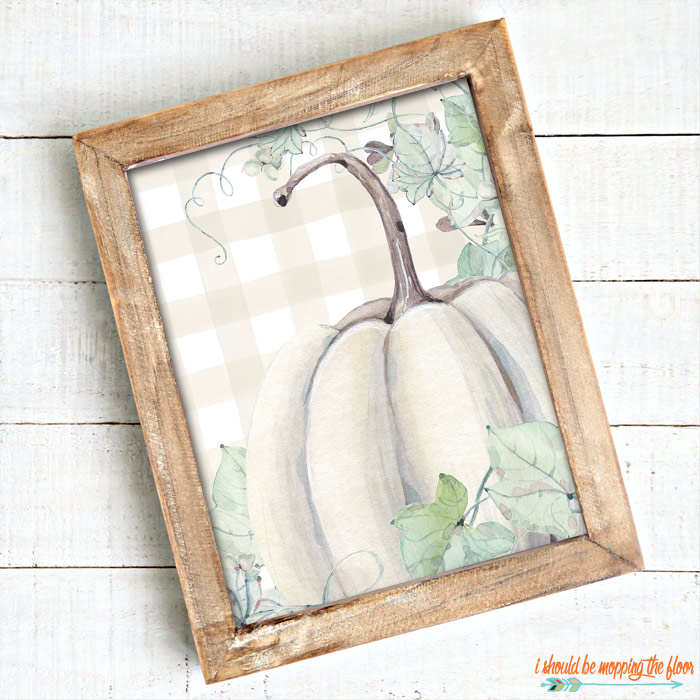 White Pumpkin Printable