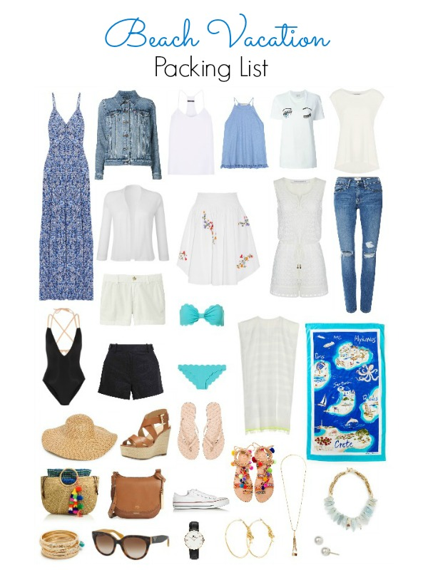 A handy lit with all the essentials for your Beach Vacation - Ioanna's Notebook