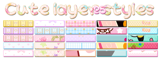 cute Layer Style for Photoshop  إستايلات رائعة للفوتوشوب ولمحبى البساطة فى التصميم