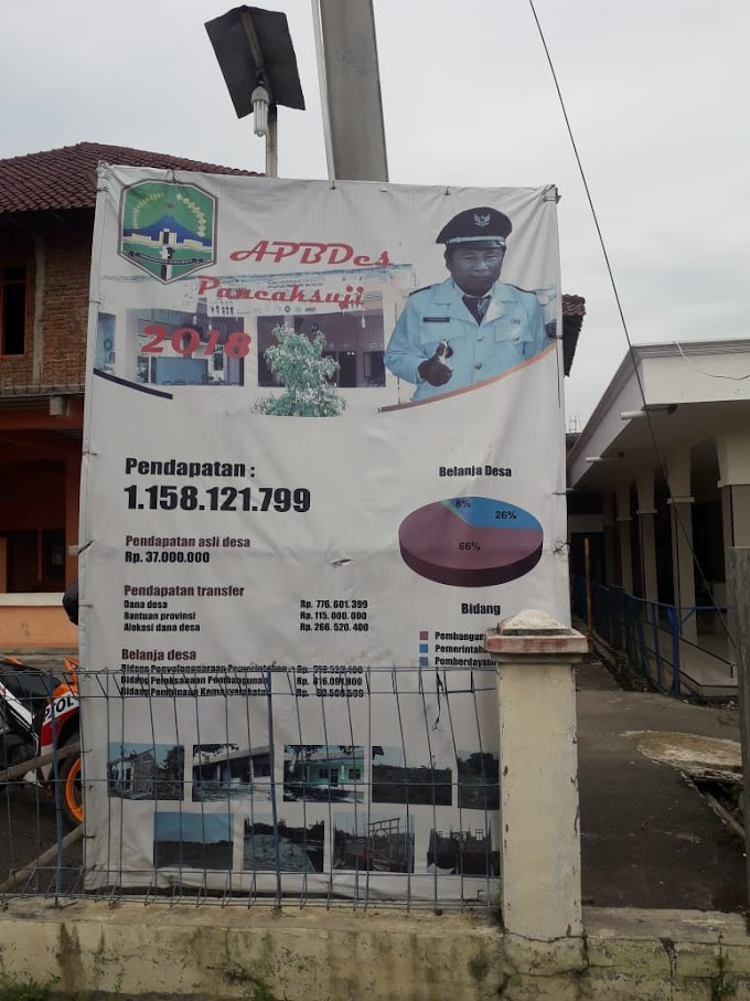Spanduk APBDes Tidak Lengkap, Surta Kepala Desa Pancaksuji Diduga Terindikasi Melakukan Korupsi