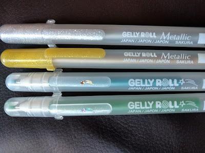 metallic and moonlight stardust Sakura gelly roll pens