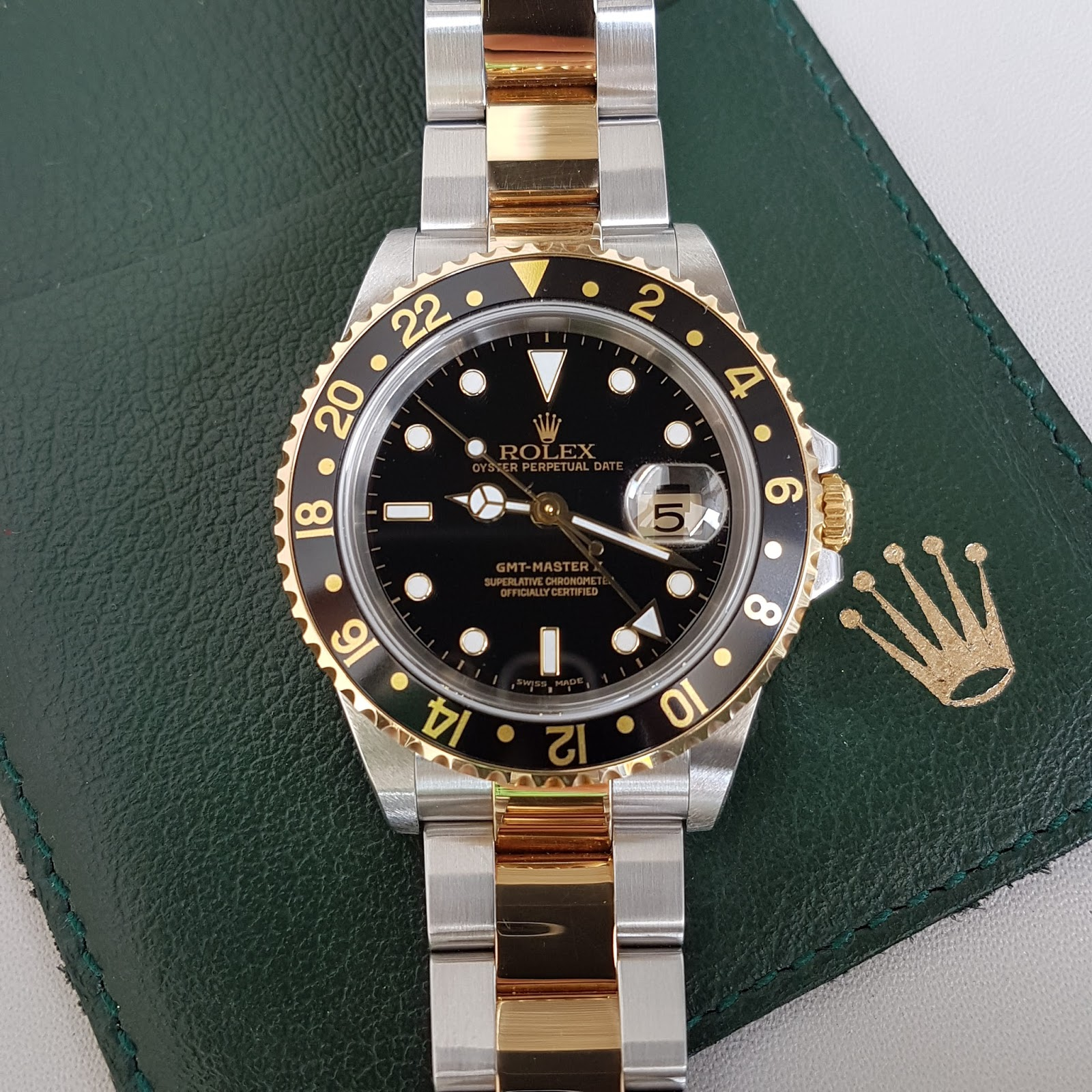Jual Jam Rolex Gold Original Welcome To Tangan Pria Expedition 6631 Black Yellow Triple Time Bracelet Steel 18k With Deployment Buckle Oyster Model Glass Sapphire Crystal Functions Water