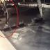 Filmleri aratmayan kaçış sahnesi güvenlik kamerasına takıldı