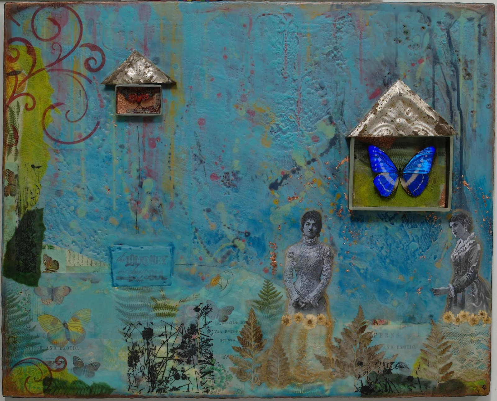 Supria Karmakar Encaustic Mixed Media Art Work