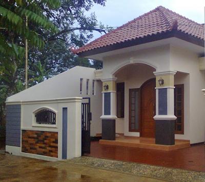 desain tiang rumah bergaya eropa
