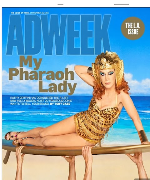 Kathy Griffin de emperatriz en portada de Adweek