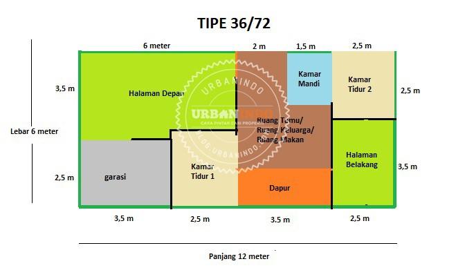 Denah Rumah Tipe 37-72
