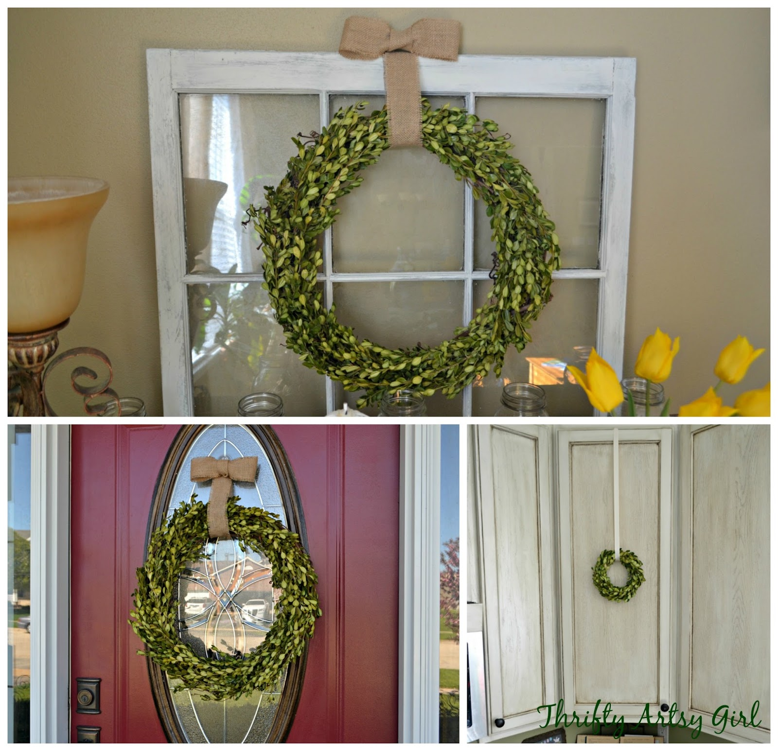 Thrifty Artsy Girl: 3 Easy DIY Boxwood Wreaths For About