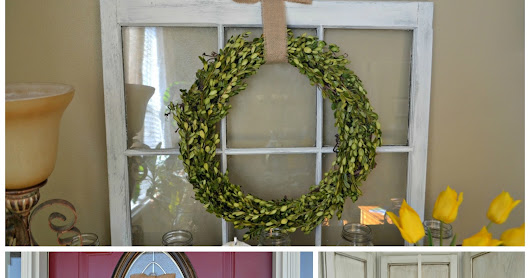 3 Easy DIY Boxwood Wreaths for about $2 a piece ~ Thrifty Artsy Girl