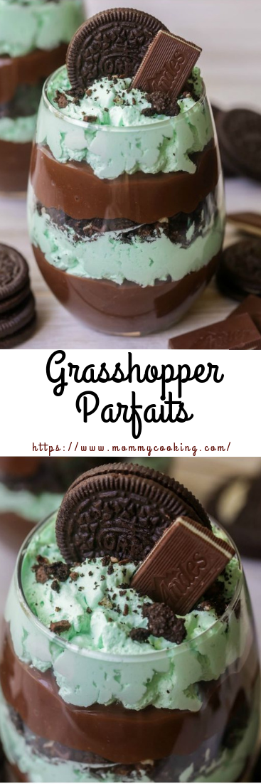 Grasshopper Parfaits #desserts #cupcakes