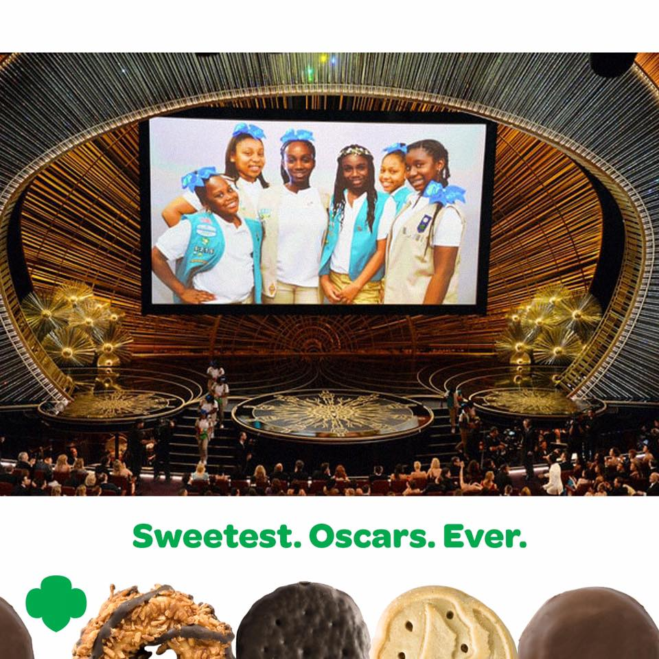 Girl scout blog february 2016 girl scout cookies for everyoneat the oscars of course malvernweather Images