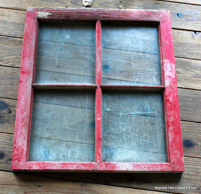 old window, christmas project, noel, DIY, red paint, https://goo.gl/BcyJKv