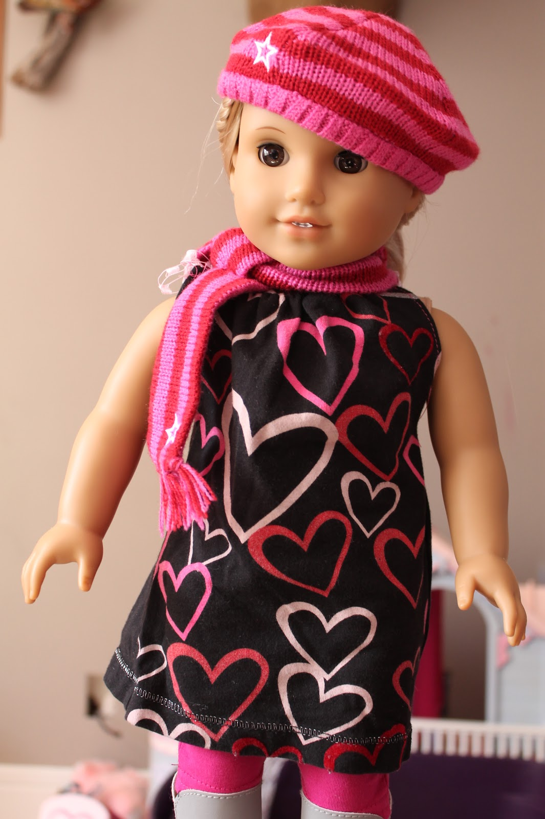 american girl doll play making valentine dresses for our dolls. Black Bedroom Furniture Sets. Home Design Ideas