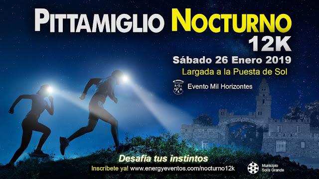 12k Castillo Pittamiglio Nocturno (Las Flores - Maldonado, 26/ene/2019)