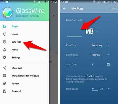 تطبيق GlassWire لمراقبة كمية استهلاك الانترنت التى يستهلكها كل تطبيق | بحرية درويد