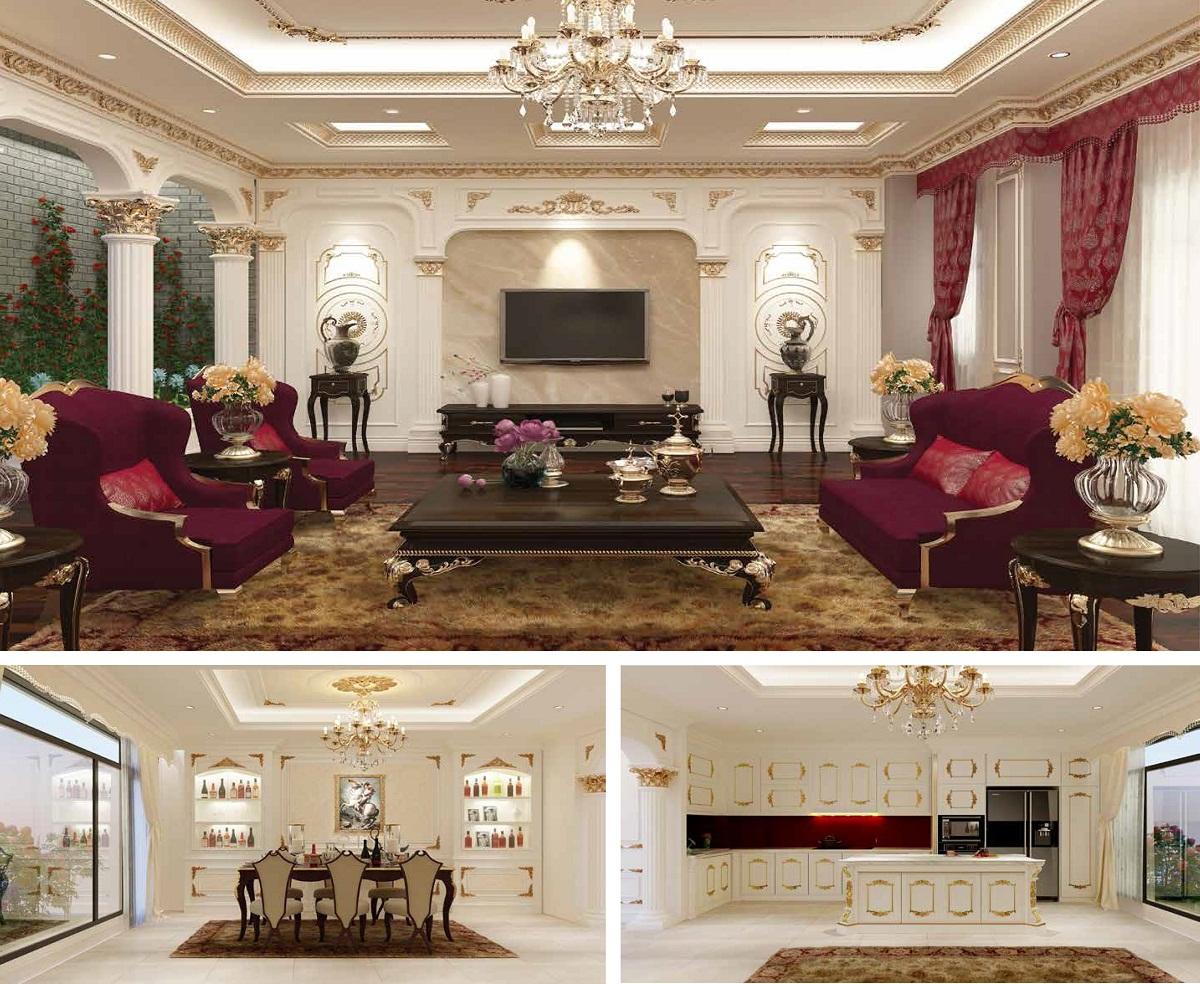 Ý tưởng thiết kế nội thất Biệt Thự Tây Nam Kim Giang