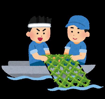 海苔漁のイラスト
