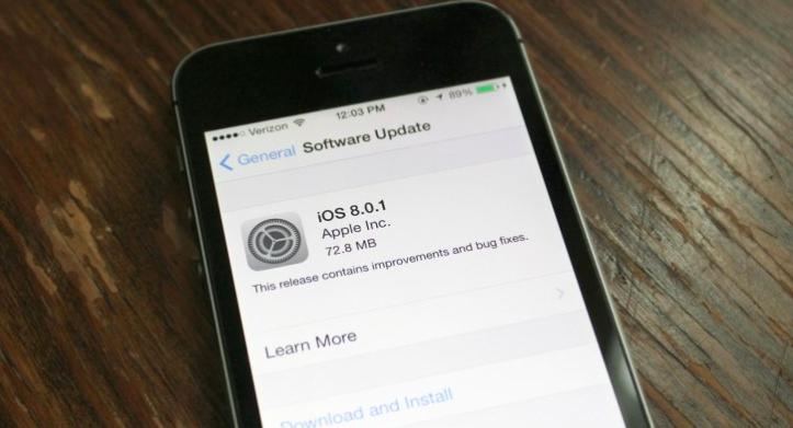 Apple急速滅火!iOS 8.0.1穩定性差,上架不到一天就下架
