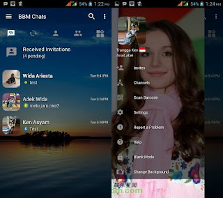 BBM Mod Transparant Change Background V3.2.3.11 Apk for Low Spec