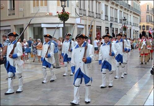 Bernardo de Gálvez, recreación histórica, desfile, Málaga, calle Larios, Pensacola, Florida, España