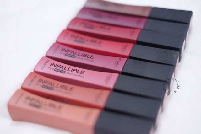 Review & Swatch : L'Oreal Les Infallible Pro Matte Liquid Lipstick + NEW Les Chocolats by Jessica Alicia