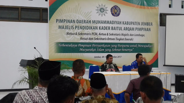 Baitul Arqom Pimpinan Muhammadiyah Jember Teguhkan Ruh Ber-Muhammadiyah