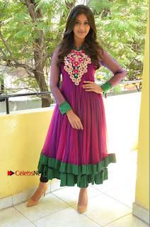 Actress Pooja Jhaveri Latest Stills in Purple Salwar Kameezt at Dwaraka Success Meet  0249.JPG