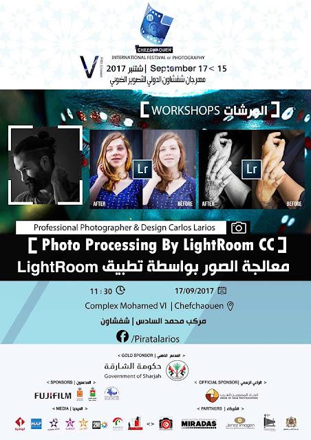 Cartel de mi charla en el Festival Internacional  de Fotografía de Chefchaouen