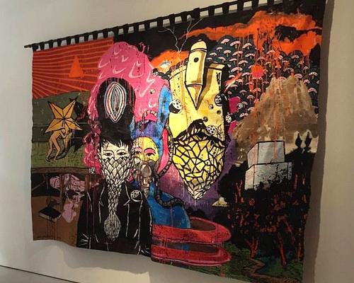 Tinuku.com The latest work pop artist Eko Nugroho presents embroidery to Arario Gallery at Art Stage Singapore 2017