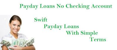 Payday Loans No Checking Account: October 2015