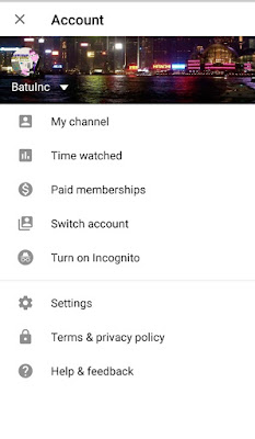 Time Watched and Turn on Incognito features added by google in youtube