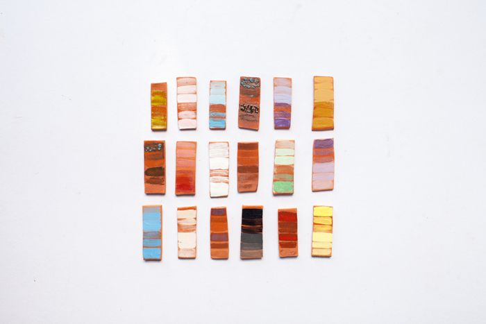 terracotta test tiles