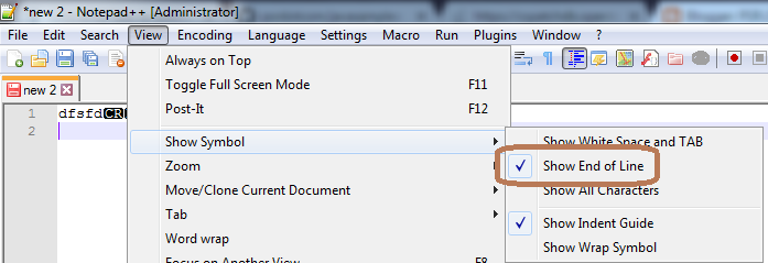 PSR COM: Change EOL (End Of Line) Character from Windows to