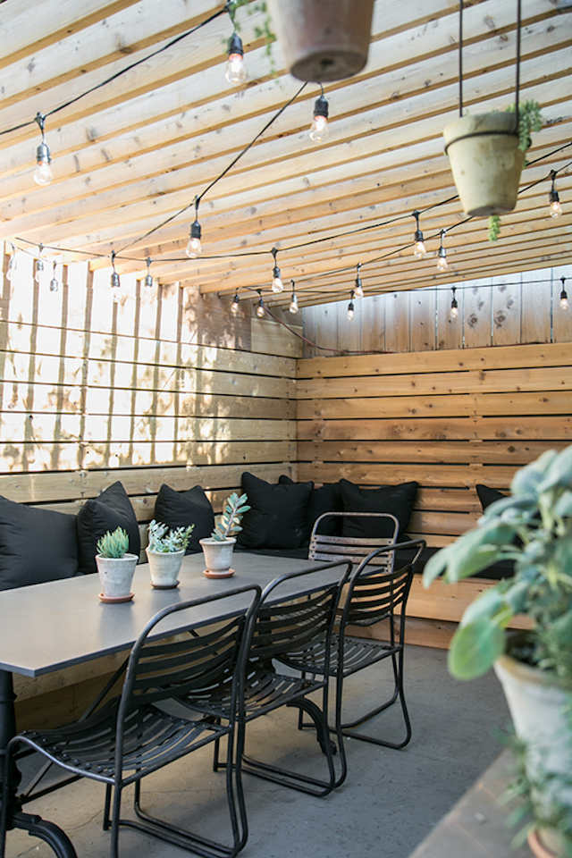 terraza forrada en madera